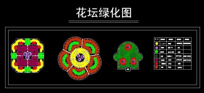 园林绿化花坛设计图