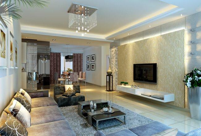 白色欧式风格室内设计效果图 客厅效果图 客厅效果图片