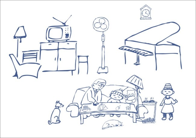 在家哄小孩-简笔画