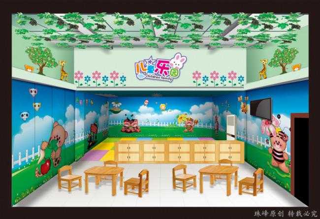 儿童乐园墙绘效果图