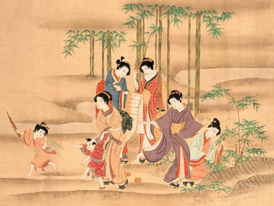 日本仕女图 古代美女 仕女图