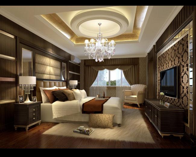 >欧式主卧室  当前素材为正版素材图片