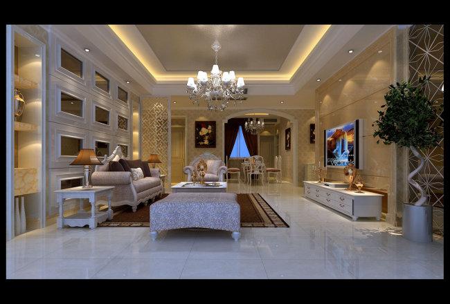 别墅客厅效果图