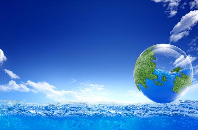 保护水资源海报背景图片
