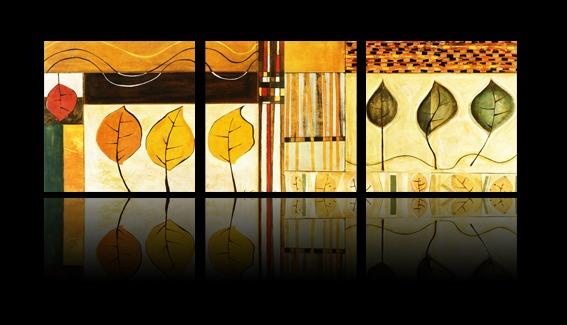 油画 树叶抽象装饰画