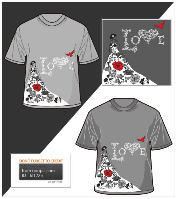 826 兆  t恤 t恤衫 t恤模板 t恤设计 t恤插画 t恤印花图案 手绘