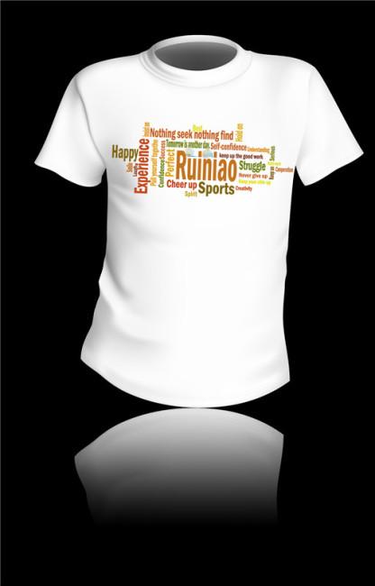 下摆臂球头t恤图案设计t恤设计模板像从男恩人那边顺过来的松垮大衬衣罩正在身上