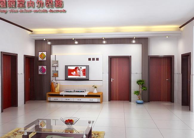 室内3dmax设计 电视墙模型