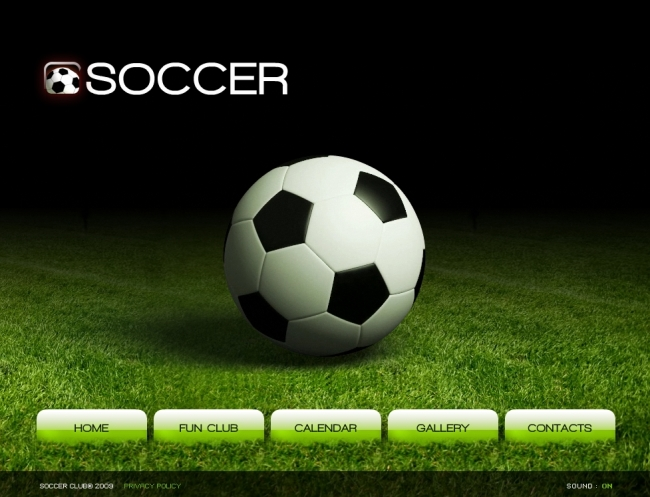 动感3d足球俱乐部网站设计-网站flash源文件-网站图片