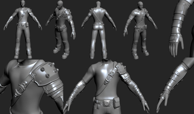 游戏人物装备模型(高模)