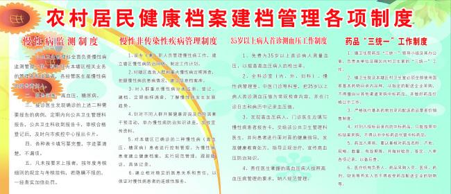 展板设计 医院展板设计 >农村居民健康档案建档管理各项制度