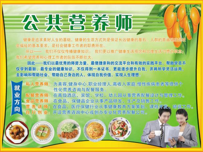 技校营养师培训宣传展板4