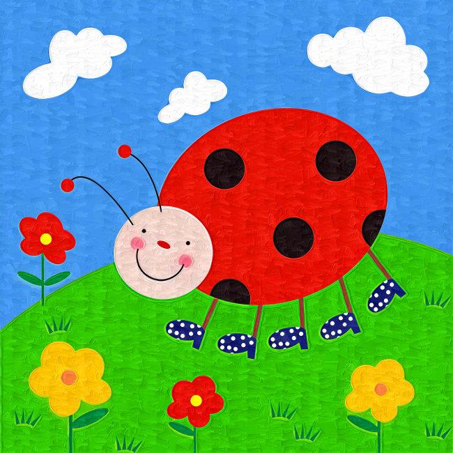 描写春天的儿童画