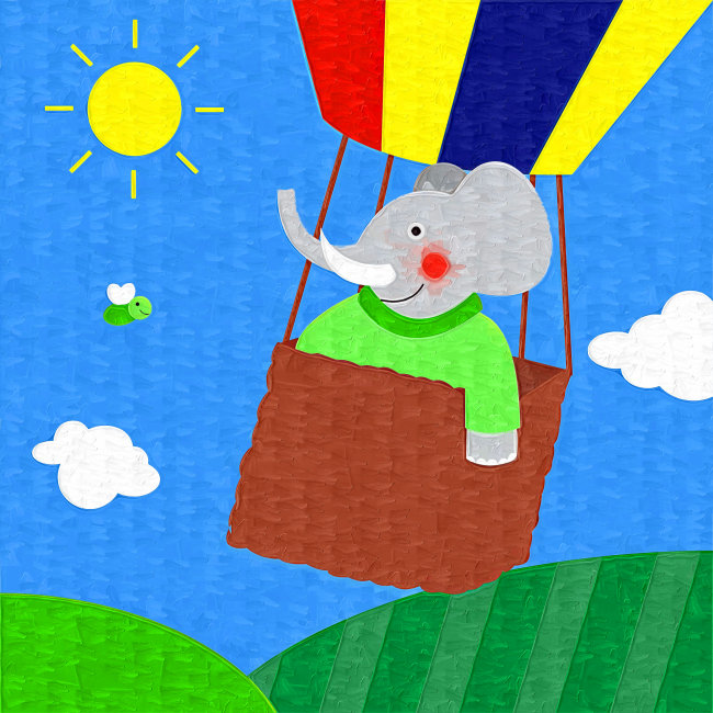 大象 热气球