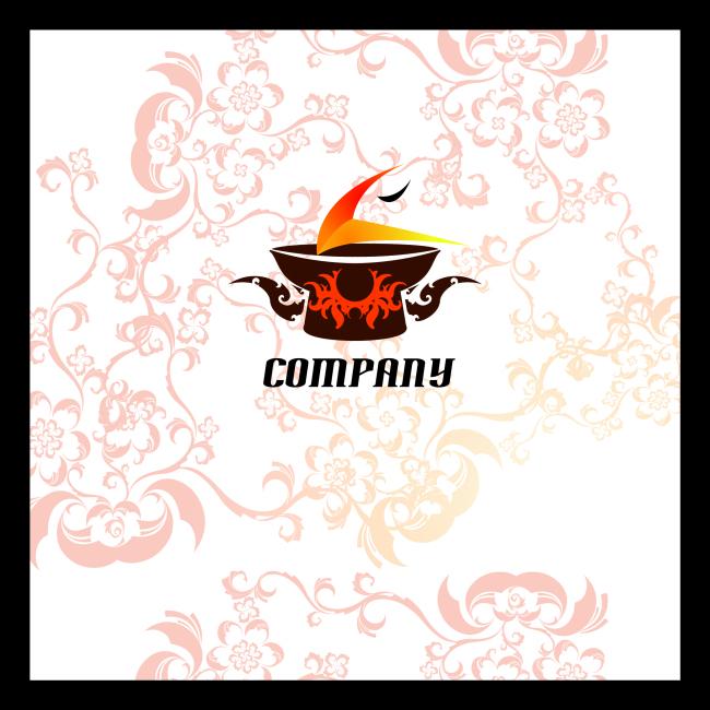 火锅连锁餐厅logo模板设计下载