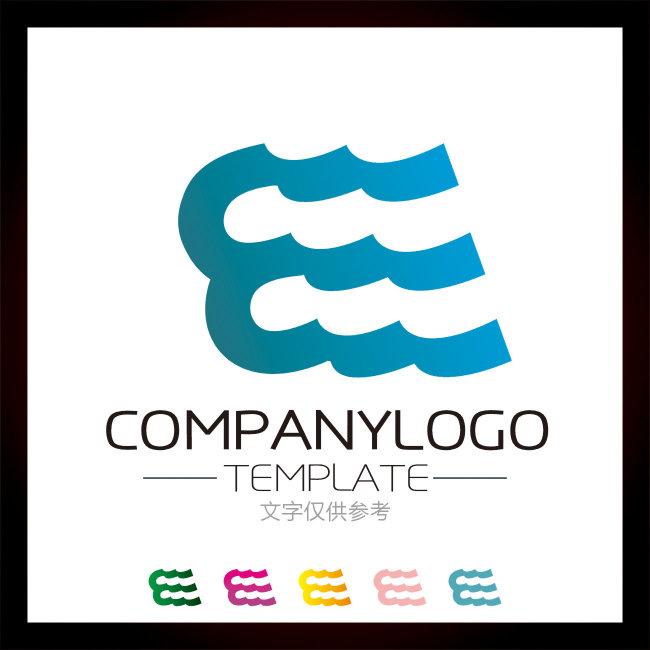 e logo设计 e字母标志模板
