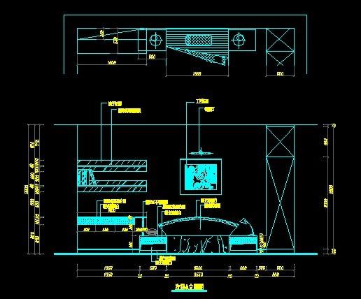 室内立面图 -cad图纸-室内装饰|无框画|背景墙