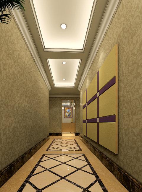 酒店房間走廊過道設計方案效果圖