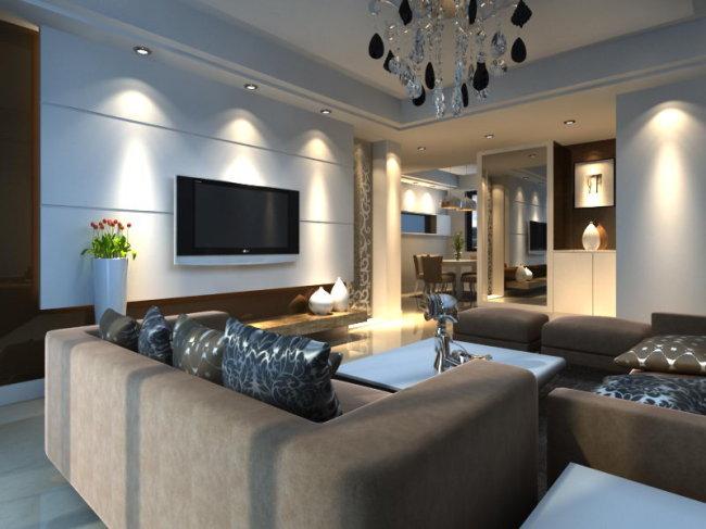 卧室 厨房 客厅效果图 家装设计 套房 家装 简约风格 现代风格 欧式