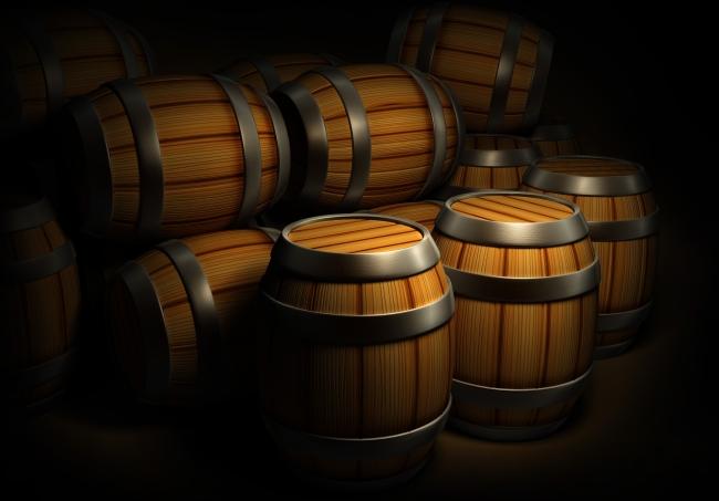 葡萄酒木桶矢量图