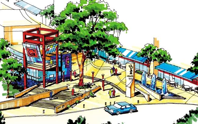 建筑景观 设定 建筑手绘