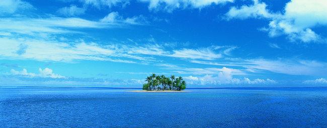 海中小岛图片素材下载