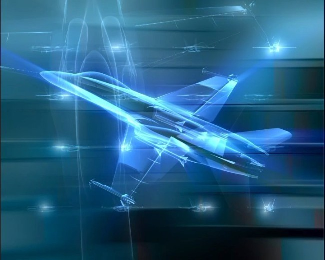 飞机透视高清视频背景素材