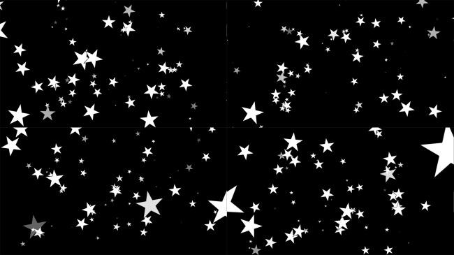 黑白星星闪动效果动态视频素材
