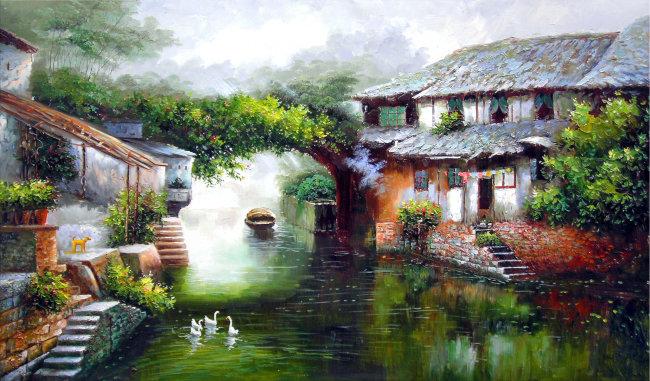 图片名称:风景油画  文件尺寸(宽高):4076 * 2395 像素   分辨率:300