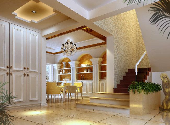 室内高档餐厅家居设计效果图