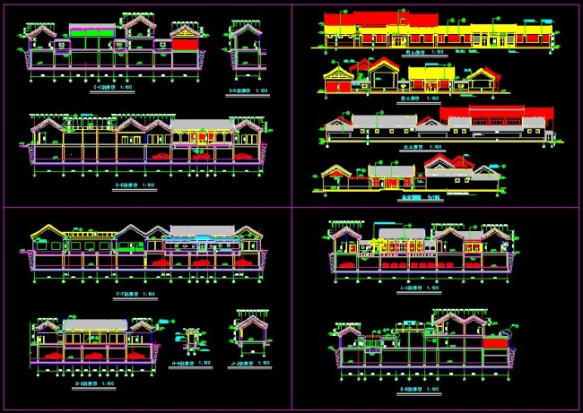 古建筑设计图 cad图纸 室内装饰 无框画 背景墙