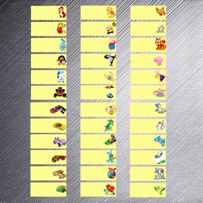 幼儿园孩子名签(标签)