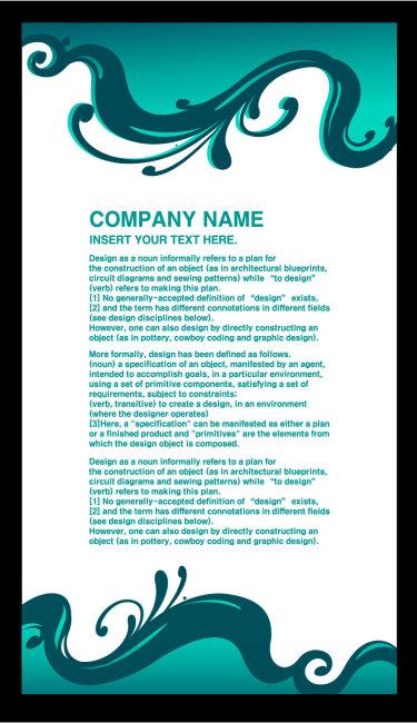 文件详细参数描述 格  式:ai 图片名称:蓝色花纹展板背景 文件