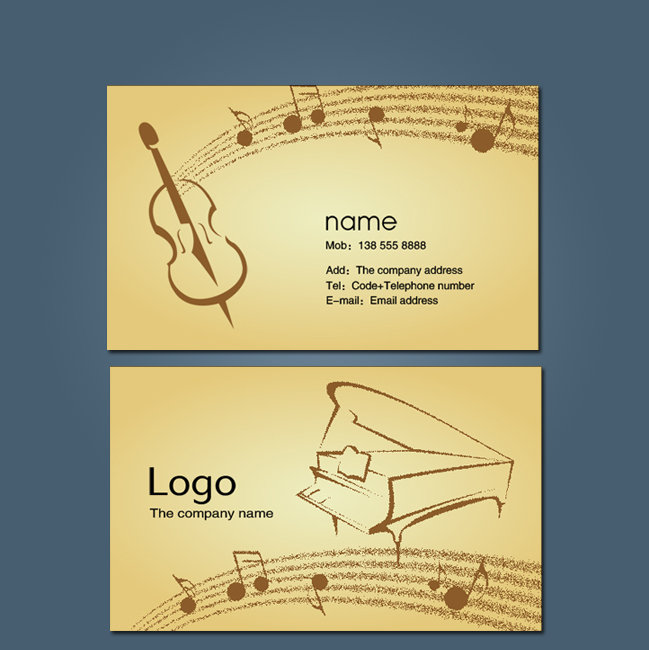 音乐名片模板