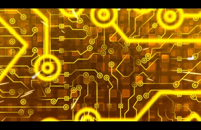 电流穿过集成电路板