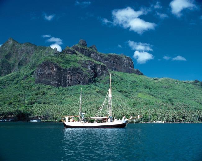 大海岛屿风景高清图片