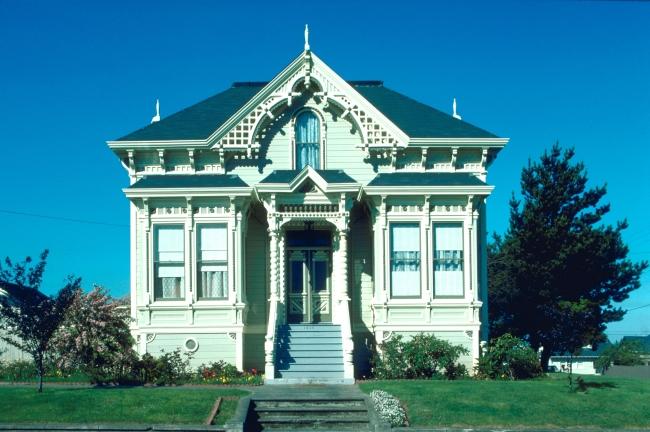图片名称:欧式建筑别墅外景