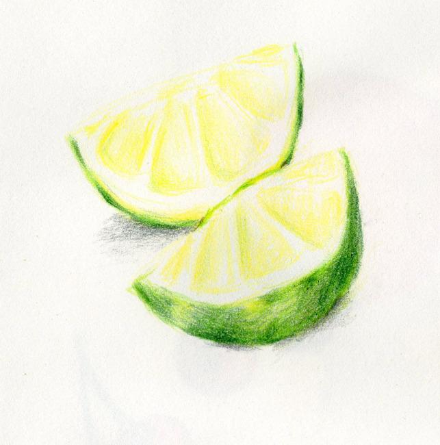 水果组合彩铅画展示_琴棋书画图片