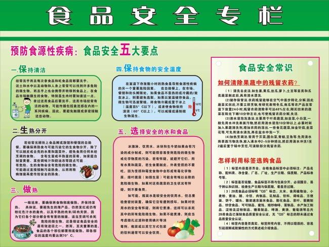 食品安全宣传栏-海报设计|秋季海报-海报设计