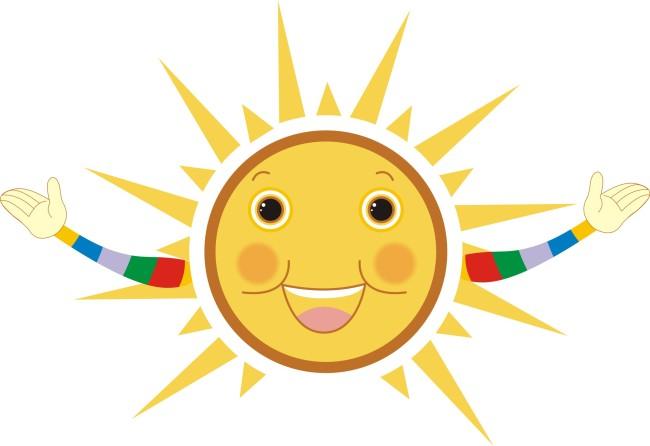 可爱卡通太阳