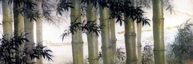 水墨画竹林图片素材