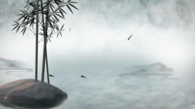 水墨竹韵视频-动态|特效|背景视频素材-动态视频素材