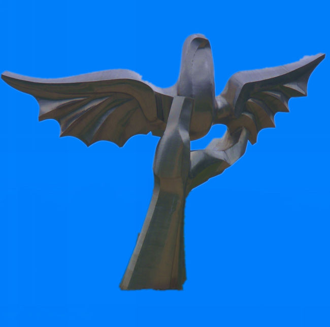 和平鸽 鸟类 雕塑 飞禽 托起 手 托起明天 自由 翱翔 展翅 飞翔