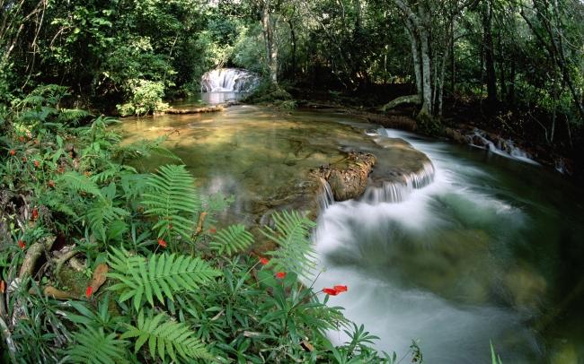 小河流水简笔画图片
