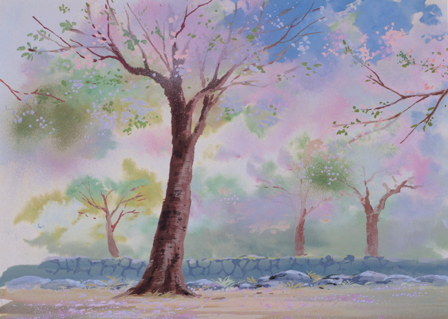 树林 手绘风景