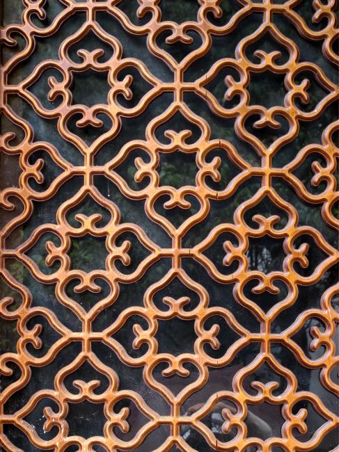 木雕窗图案