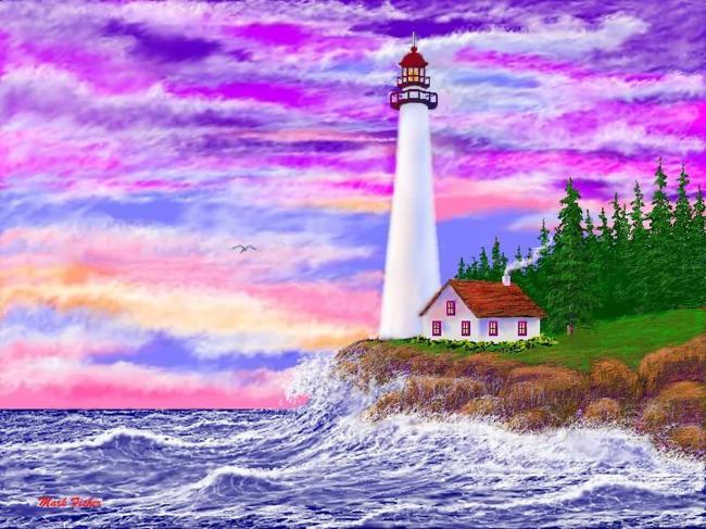 乡村彩绘风景 水墨 油画 素材