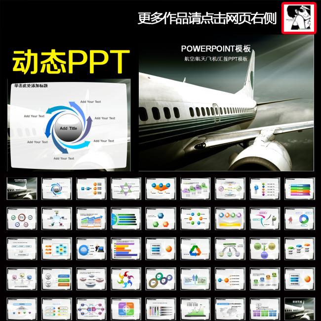 动态南方航空公司报告年终总结ppt
