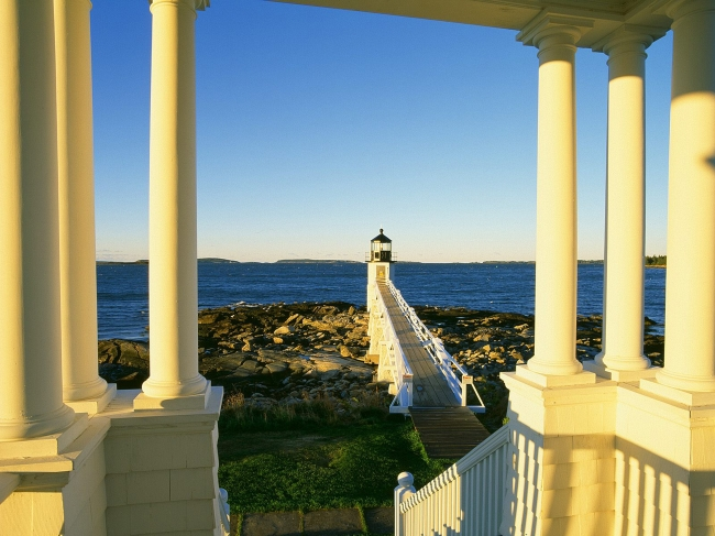 缅因州克莱德港 马绍尔群岛灯塔