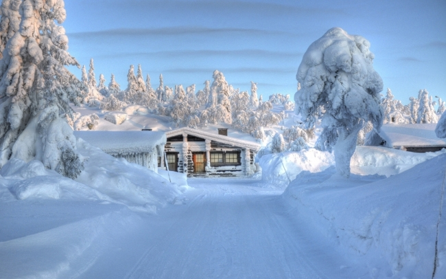 下雪天 风景图片